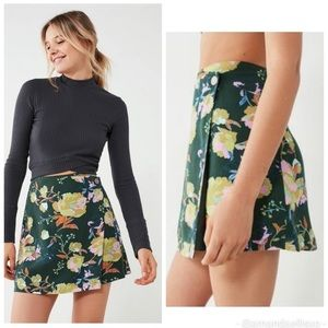 Urban outfitters small green wrap skirt floral